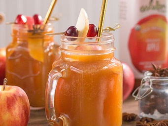 Hot Spiced Organic Apple Juice