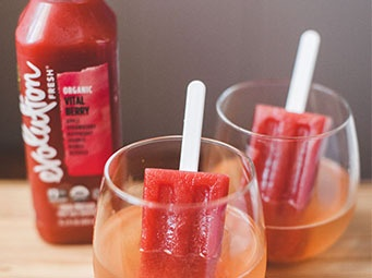 Boozy Berry Pops