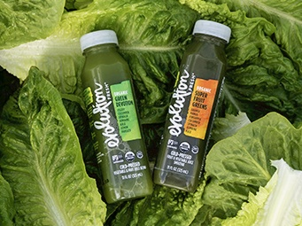 Romaine in Evolution Fresh juices