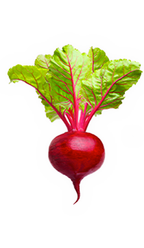 Beets - When we think of beets, we think red and round. But this earthy-sweet veggie comes in all shapes and colors. Whether oval or flat, yellow or striped like candy canes, folate-full beets always add a vibrant splash of flavor. - via: Evolution Fresh