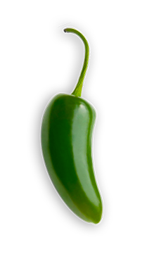 Jalepeno - Medium or hot, jalapeños pack a flavor punch. They're green when picked and turn red as they ripen. But they don't grow hotter, they taste fruitier. It's how we put a tingle on your tastebuds. - via: Evolution Fresh