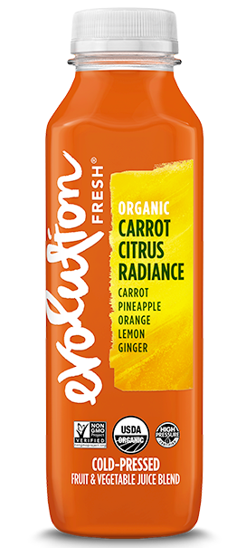 Organic Carrot Citrus Radiance cold pressed juice