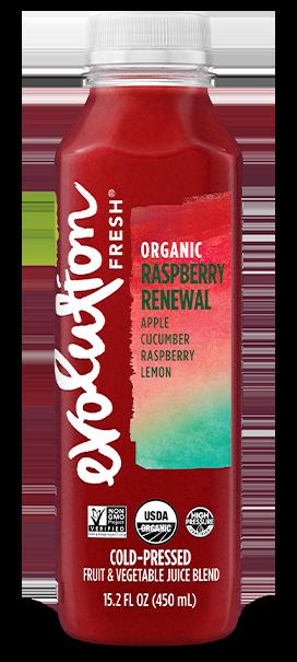 Organic Raspberry Renewal cold pressed juice