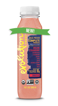 Evolution Fresh | Organic Strawberry Complete Probiotic Smoothie |  Cold-Pressed Smoothie