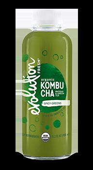 Evolution Fresh | Spicy Greens Kombucha |   Cold-Pressed Juice