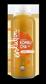 Evolution Fresh | Turmeric Pineapple Coconut Kombucha |   Cold-Pressed Juice