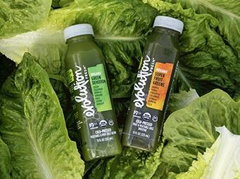 Romaine in Evolution Fresh juices