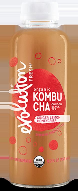 Organic Ginger Lemon Honeycrisp Kombucha