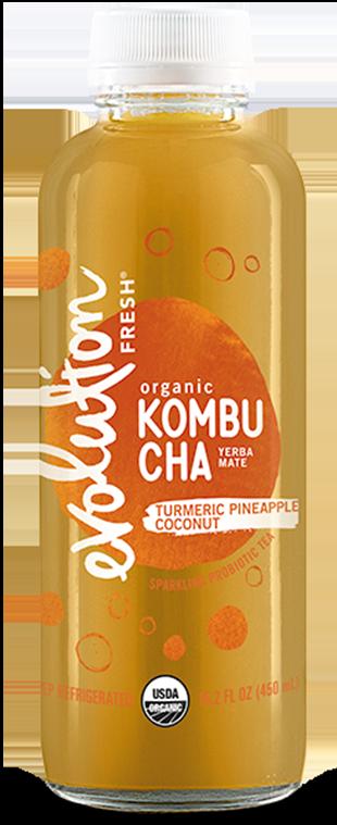 Organic Turmeric Pineapple Coconut Kombucha