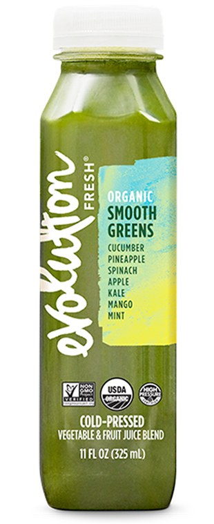 Organic Smooth Greens cold pressed juice